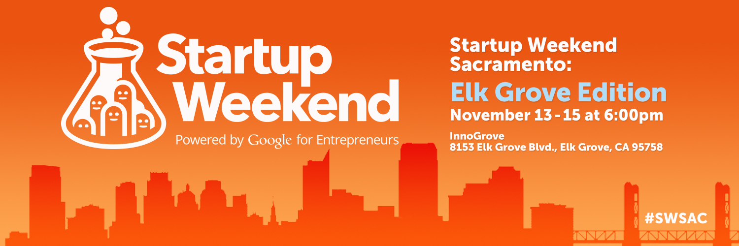 Startup Weekend Sacramento Returns November 13 – 15