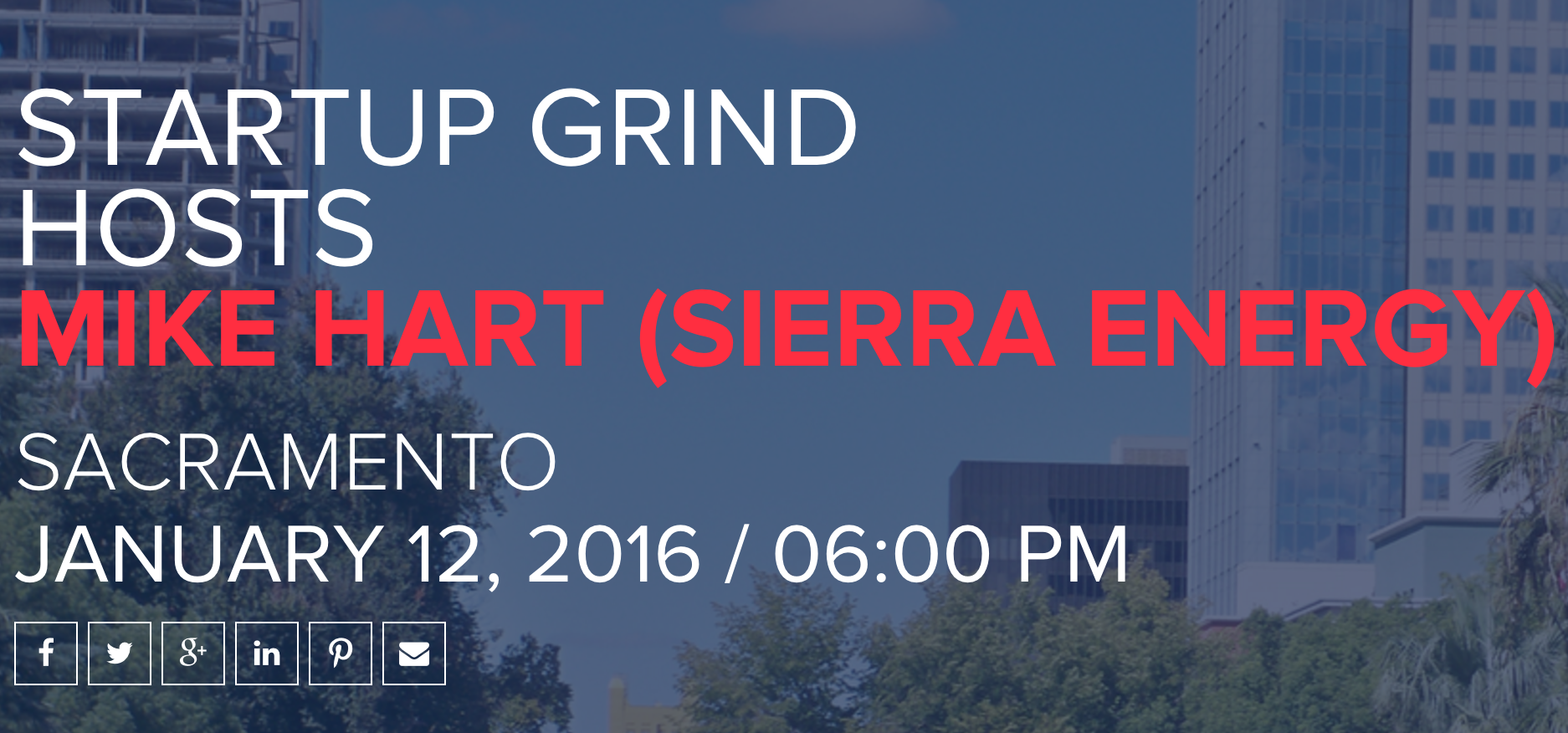 Startup Grind Hosts Mike Hart on January 12