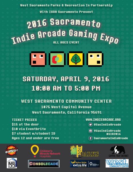 2016 Sacramento Indie Arcade Gaming Expo