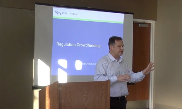 Chris Russell Explains Legal Requirements of Crowdfunding at CleanStart Workshop