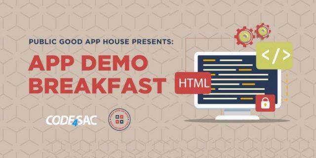 Public Good App House Demo Breakfast  Sacramento